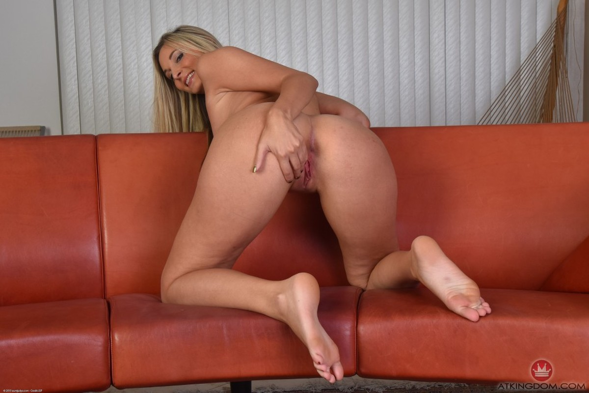 Ass, Blonde, Couch, Ivory, Long Hair, Solo picture featuring Allie